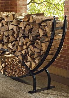 The Frontgate Steel Log Racks make storing all the wood you'll need for chilly nights simple and stylish enough to keep close to your home instead of hiding.