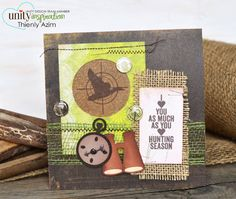 Love You as MUCH as HUNTING - Unity Stamp Co - - Sentiment Stamps  - September 2013 Release