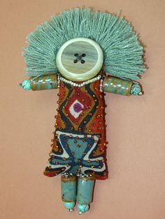 Handmade Turquoise Whimsy Art Doll - I think she's beautiful!