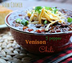 Slow Cooker Venison Spicy Chili