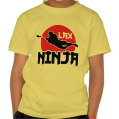 Lacrosse LAX Ninja Children's T-Shirt. An awesome custom printed children's #t-shirt. To see this design on the full range of products, please visit my store: www.zazzle.com/gamefacegear*/ and click on the 'Lacrosse Designs' category.  #lacrosse #lax #BackToSchool