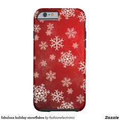 fabulous holiday snowflakes tough iPhone 6 case