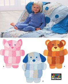 RAG QUILT Throws Sewing Pattern - Dog Cat Teddy Bear LAST ONE ~ SOLD!
