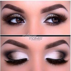 Beautiful Smokey Eye Make up for Brown Eyes | Make up | Pinterest ❤ liked on Polyvore featuring beauty products and eyes