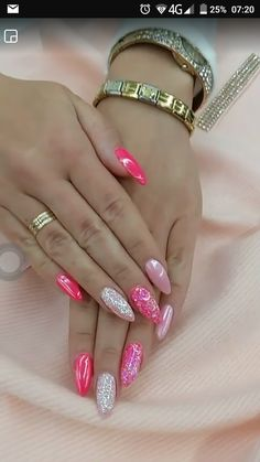 Trendy Pink Gel Nail Colors For American Girls, Romantic pink nails can flip you into a captivating aristocrat. these days we tend to ar here with an exquisite Pink Gel Nails, Gel Nail Colors, Fancy Nails, Cute Nails, Pretty Nails, Beige Nails, Glitter Nail Art, Gel Nail Art, Nail Nail