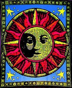 Aztec Sun Opticz Black Light Tapestry, 23 in. x 28 in., SKU: 001030