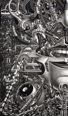 "Samuel Gomez Reveals New Largescale Drawings ""Decrypted Savants"" & ""Oasis"" | Hi-Fructose Magazine"