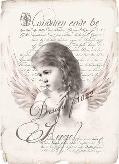 Vintage angel new version digital collage p1022