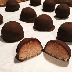 Healthier Chocolate Peanut Butter Balls - 21 Day Fix approved dessert                                                                                                                                                                                 More