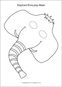 Elephant role-play masks (SB9859) - SparkleBox