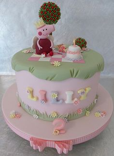 Fairy Peppa Pig Princess Cake...soooo pretty!
