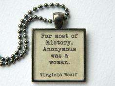Resin quote necklace inspirational women history by WordBaubles, $14.00