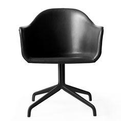 Harbour Chair, Swivel Base With Black Steel Casters & Grey Velvet Modern Swivel Chair, Modern Chairs, Chair Upholstery, Upholstered Chairs, Chair Cushions, Eames, Pod Chair, Danish Design Store, Co Working