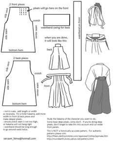 parts of a traditional kimono | Drafting A Hakama Pattern