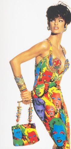 Vestido Warhol Versace