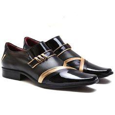 5c55c41a6 Sapato Social Masculino 100% Couro Legítimo - Super Oferta - R$ 179,90