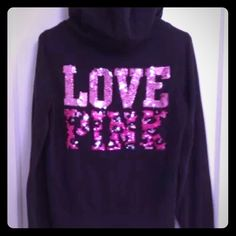 Selling this SOLD VS BLING Pink Cheetah Sequin  Hoodie in my Poshmark closet! My username is: cmccullough9. #shopmycloset #poshmark #fashion #shopping #style #forsale #PINK Victoria's Secret #Sweaters