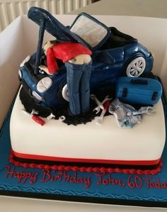 Car mechanics 21st birthday Cake by femmebrulee amazing cakes