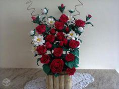arranjos de flores de eva lirio - Pesquisa Google Flower Quotes, Flower Making, Spring Flowers, Pink And Green, Diy And Crafts, Christmas Wreaths, Floral Wreath, Holiday Decor, How To Make