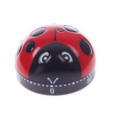 Lovely 60 Minute Ladybug Timer Easy Operate Kitchen Useful Cooking Ladybird Shape #55206