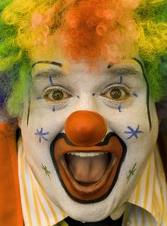 images of clowns faces | Are you a White Face clown? | Splattered Paint