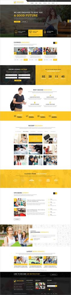 Educator is an unique and modern #PSD template for #edtech Kindergarten, #Courses Hub, Training Center, Academy, College, University, School, LMS or any educational websites with 6 different homepages and 30+ organized PSD pages download now➩ https://themeforest.net/item/valluvar-education-multipurpose-psd-template/19189091?ref=Datasata