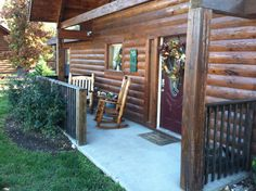 Rock your cares away at Trail's End Cabin in the Ozarks