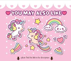 BUY MORE AND SAVE! CHECK OUT THE SHOPS BANNER FOR COUPON CODES! **************************************************** Kawaii unicorn and narwhal set will be perfect for greeting cards, invitations, jewelry, stickers, paper craft, digital scrapbooking, websites and much more! For more Little Unicorn, Cute Unicorn, Unicorn Party, Scrapbooking Digital, Unicorn Illustration, Unicorn Rooms, Cute Fonts, Animal Jam, Modern Cross Stitch Patterns