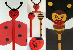 Fakanálbábok/ladybug and bee wooden spoon puppe - mivagyunk.lapunk.hu