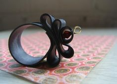 ring made from tire inner tube and recycled bead.