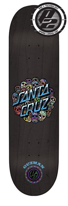 Check out the deal on 8.0in x 31.6in Guzman Calavera Dot P2 Santa Cruz Skateboard Deck at NHS Fun Factory