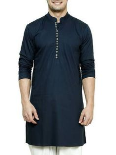 navy blue cotton kurta - Online Shopping for Kurtas