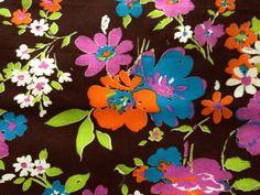 60s Retro Hippie Mod Vintage Daisy Floral Fabric by KimberlyZ, $29.00