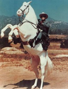 "The signature move of the Lone Ranger was to have Silver rare up on his hind legs with the lone ranger calling out, ""Hi Ho Silver"" and away they would run into the horizon. Description from pinterest.com. I searched for this on bing.com/images"
