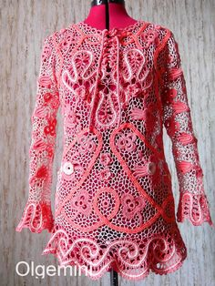 Tunica Celtic coral by Olgemini on Etsy, $620.00