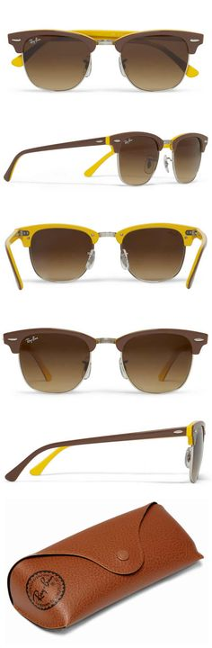 Ray-Ban Clubmaster Two-Tone Sunglasses-Show me the sun