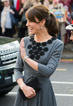 Kate Middleton Stuns During a Solo Appearance in London - October 27, 2015