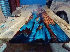 stunning resin dining table only tables available finished to perfection live edge Live Edge Furniture, Resin Furniture, Repurposed Furniture, Home Furniture, Office Furniture, Epoxy Wood Table, Epoxy Resin Table, Wood Tables, Diy Tisch