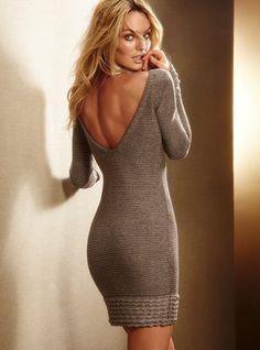 Lurex?- Sweaterdress with Ruffle Hem - Victoria's Secret on Wanelo