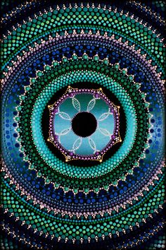 Original Mandala Painting by Kirsty Russell by ArtbyKirstyRussell