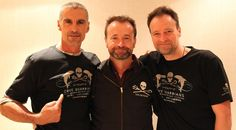 Cliff Simon (Ba'al), David Nykl (Dr. Zelenka) and David Hewlett (Dr. McKay) supporting Sea Shepherd Conservation Society