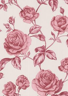 Countess Pink Wallpaper @Layla Grayce I would not actually want this on my own walls but I love the colors in the wall paper.