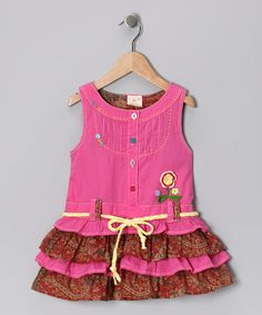 Take a look at this Pink Ruffle Tiered Dress - Infant, Toddler & Girls by the Silly Sissy on #zulily today!