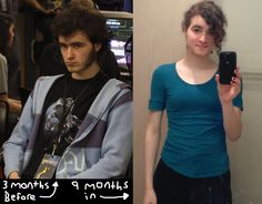 One really big year (3 months pre-HRT to 9 months in)