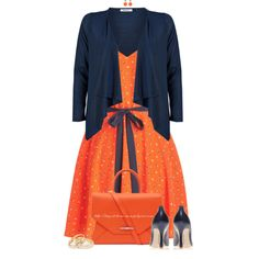Orange & Navy by stay-at-home-mom on Polyvore featuring ONLY, Nine West, Givenchy, MANGO and VICKISARGE