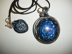 """The Mirror to the Soul"" Polymer clay pendant charm Jewelry by LynzCraftz"