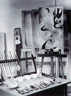 Joan Miro's taboret and studio