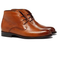 hand burnished leather shoe