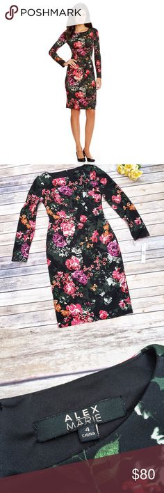 Alex Marie Beautiful Floral Dress  ★ NWT, in perfect condition!  ★ This adorable Alex Marie floral dress is perfect for spring and summer! Pair with cute heels for a complete look!  ❤️ ★ 95% Polyester || 5% Spandex. ★ NO TRADES!  ★ NO MODELING!  ★ YES REASONABLE OFFERS! ✅ ★ Measurements available by request and as soon as possible.  Alex Marie Dresses