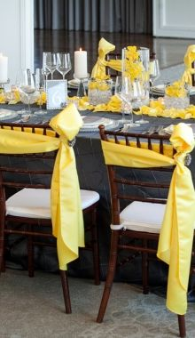 Love the way the sashes on the chairs are tied.